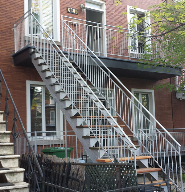 Escaliers galvanisé