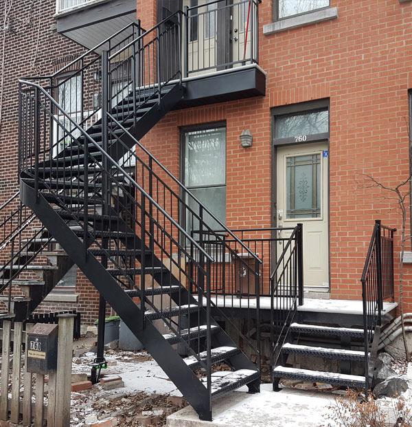 Escaliers fer forgé