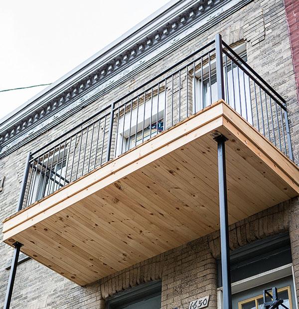 Balcons bois