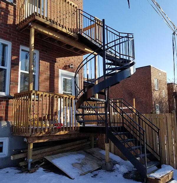 Escaliers aluminium soudé